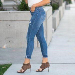 Judy Blue High Rise Release Hem Skinny Jeans 1/25